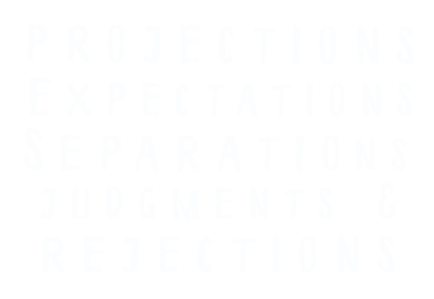 Projections, Expectations, Separations, Judgments  Rejections
